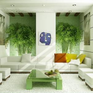 Desain Interior Ruang Tamu green