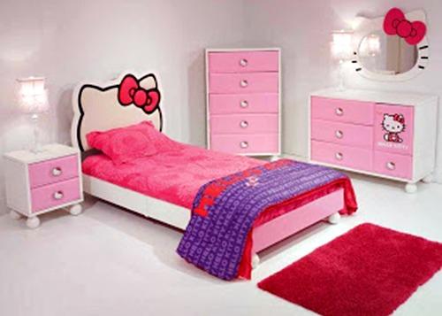 Kamar Tidur Anak Perempuan Hello Kitty Desain Rumah Minimalis