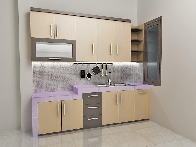 Model kitchen set minimalis 2 desain rumah minimalis for Bikin kitchen set
