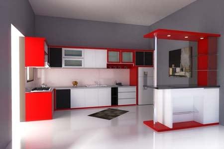 Model Kitchen Set Minimalis 6 Desain Rumah Minimalis