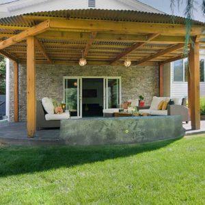 Model Teras Rumah Minimalis Batu Alam