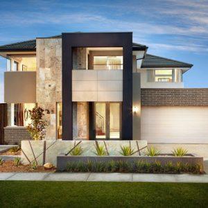keren desain tampak depan rumah minimalis 2 lantai
