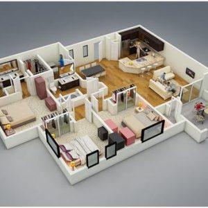denah rumah sederhana minimalis type 60