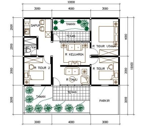 terbaru 24+ denah rumah minimalis 3d