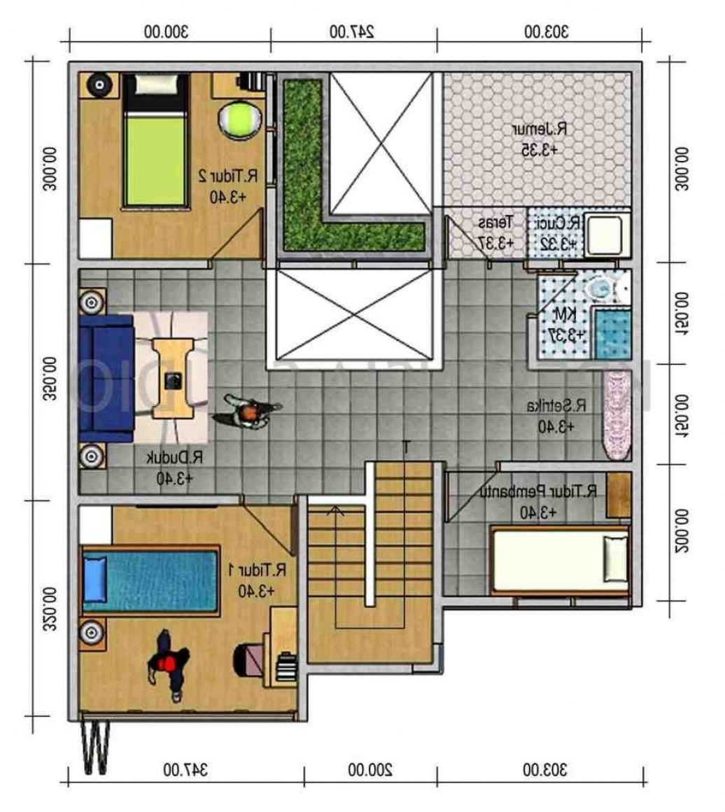 103 Gambar Rumah Minimalis Sederhana 3 Kamar Tidur Desain Denah