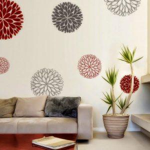 desain hiasan dinding bunga