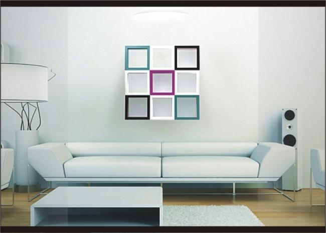 desain hiasan dinding kotak - Desain Rumah Minimalis