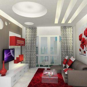 gambar ruang tamu minimalis cokelat