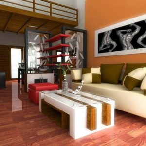gambar ruang tamu minimalis menarik