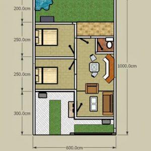 Denah Sketsa Rumah Minimalis
