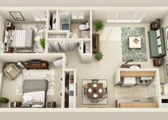 denah rumah 3 kamar 3d & denah rumah 3 kamar 3d 11 - Desain Rumah Minimalis