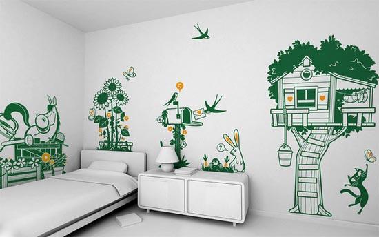 Hiasan Dinding Kamar Tidur Sederhana Desain Rumah Minimalis