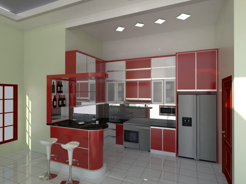 Model kitchen set minimalis 24 desain rumah minimalis for Contoh kitchen set minimalis