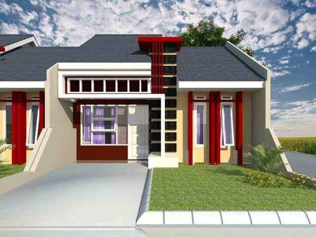 Contoh Warna Cat Rumah Minimalis Tampak Depan Merah Desain Rumah