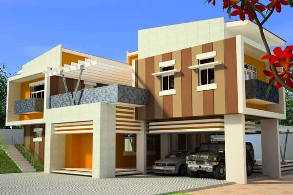 Contoh Warna Cat Rumah Minimalis Tampak Depan Orange Desain Rumah