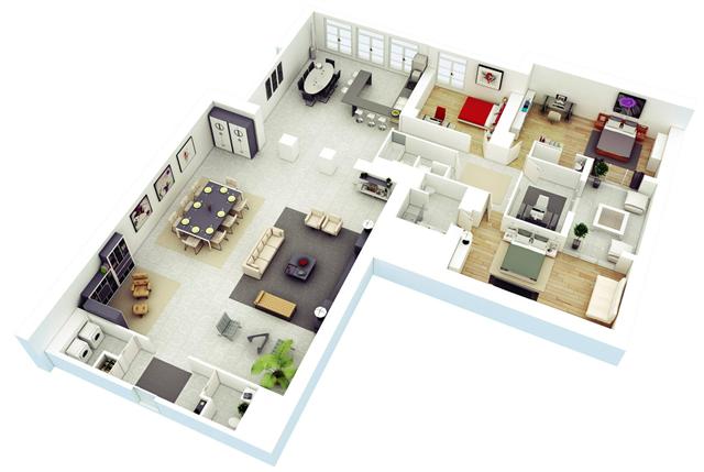 Desain Rumah Minimalis 1 Lantai 3 Kamar Tidur 6 Desain Rumah Minimalis