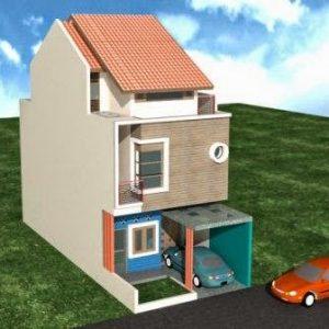 Gambar Rumah Minimalis 2 Lantai Type 21