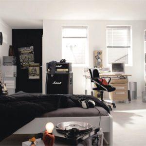 desain kamar tidur tema musik