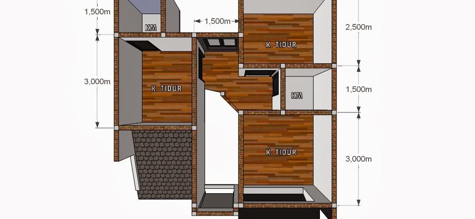 Contoh Denah Rumah Persegi Panjang 8 denah rumah 3 kamar ukuran 7x9 paling dicari
