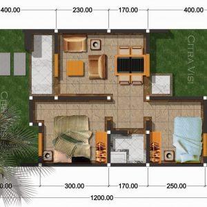 Denah Rumah 3 Kamar Ukuran 7x9 Paling Dicari