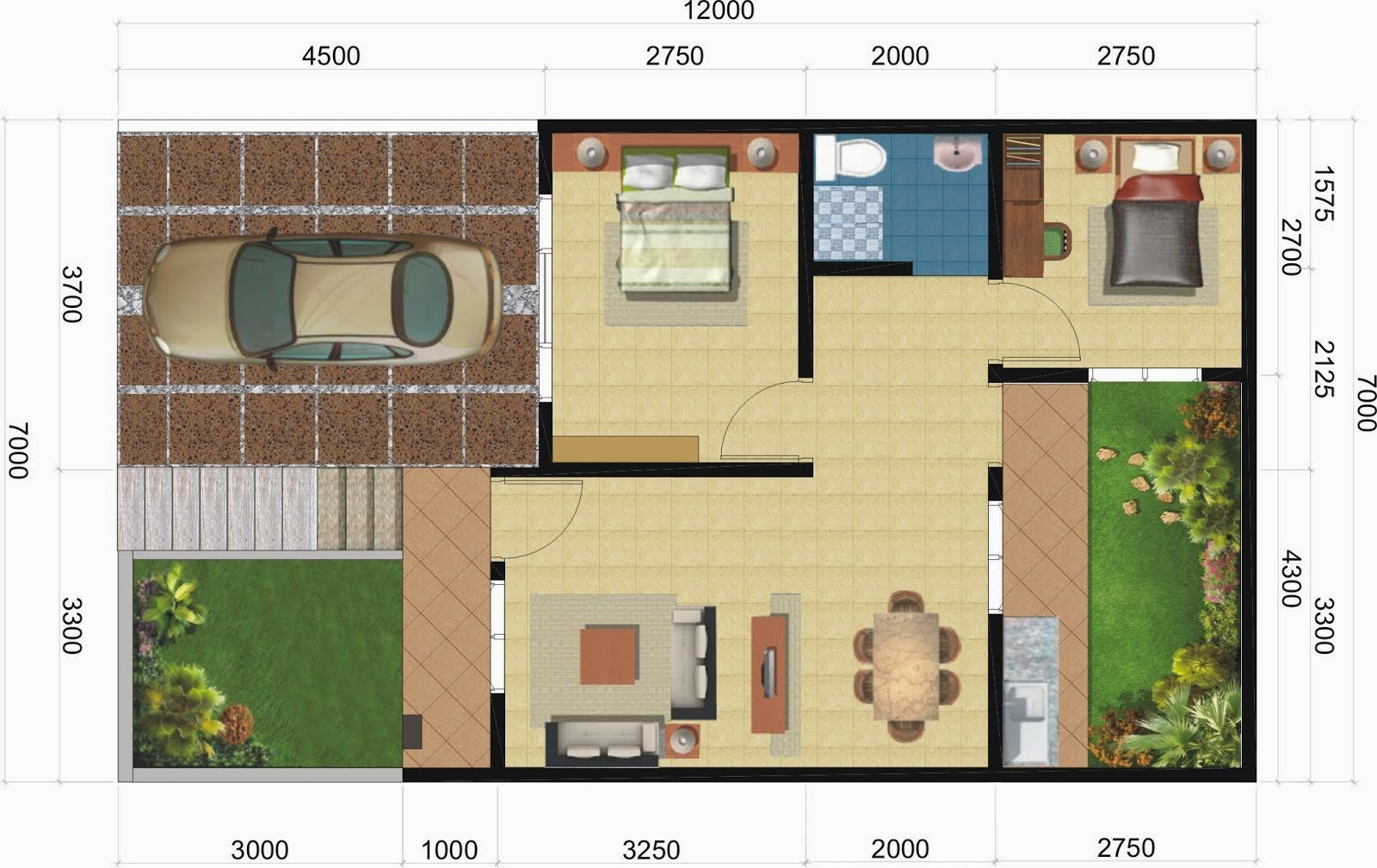 104 Gambar Rumah Minimalis Sederhana Ukuran 7x9 | Gambar ...