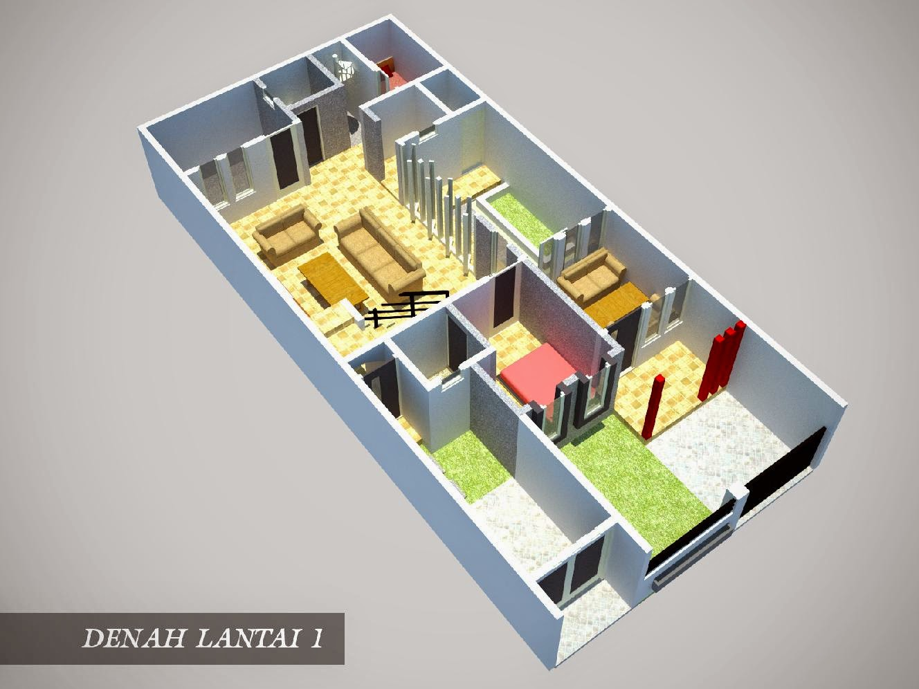 Denah Rumah 3 Kamar Ukuran 7x9 Paling Dicari Terbaru Livedesaincom