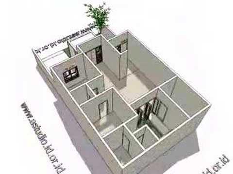 Gambar Desain Rumah Minimalis 6 X 9  denah rumah 3 kamar ukuran 7x9 paling dicari desain rumah