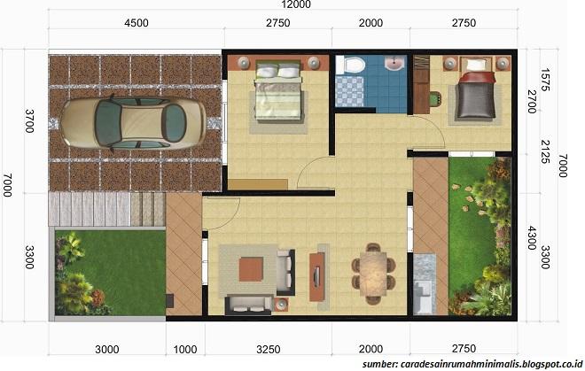 gambar denah rumah minimalis ukuran 6x10 terbaru 2017