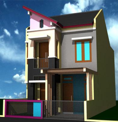 Gambar Desain Rumah Minimalis 6 X 9  rumah minimalis 2 lantai ukuran 6x9 unik desain rumah