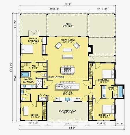 Ide 45 Denah Rumah 4 Kamar 1 Mushola