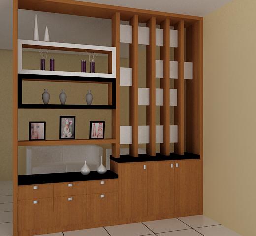 Lemari Hias Ruang Tamu Minimalis Desain Rumah Minimalis