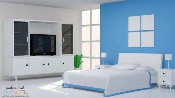 Perpaduan Warna Cat Rumah Bagian Dalam Biru Desain Rumah Minimalis