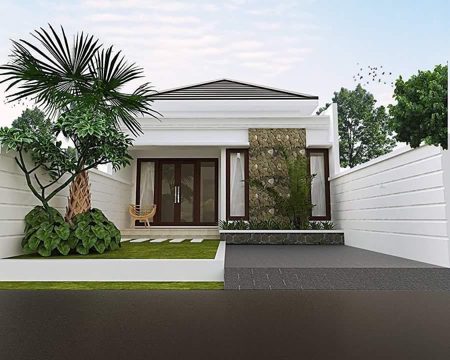 Rumah Minimalis Tampak Depan Dengan Batu Alam Paling Baru Desain