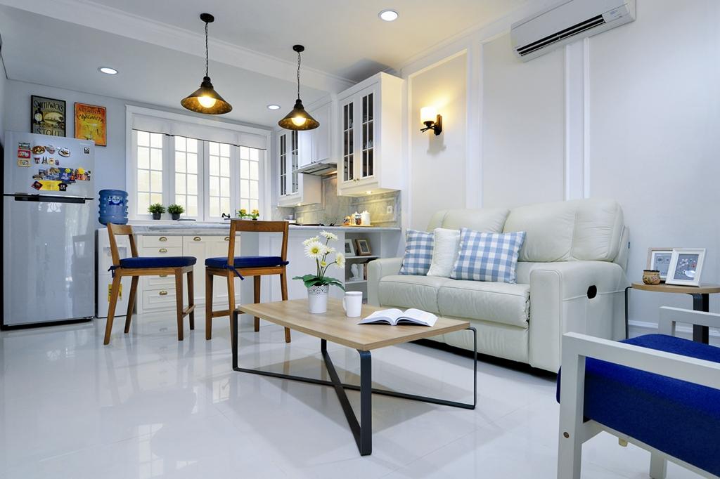 desain ruang keluarga menyatu dengan dapur