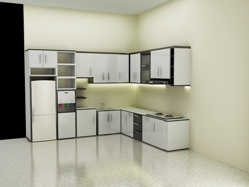 The best 100 design interior kitchen set minimalis image for Harga kitchen set aluminium minimalis