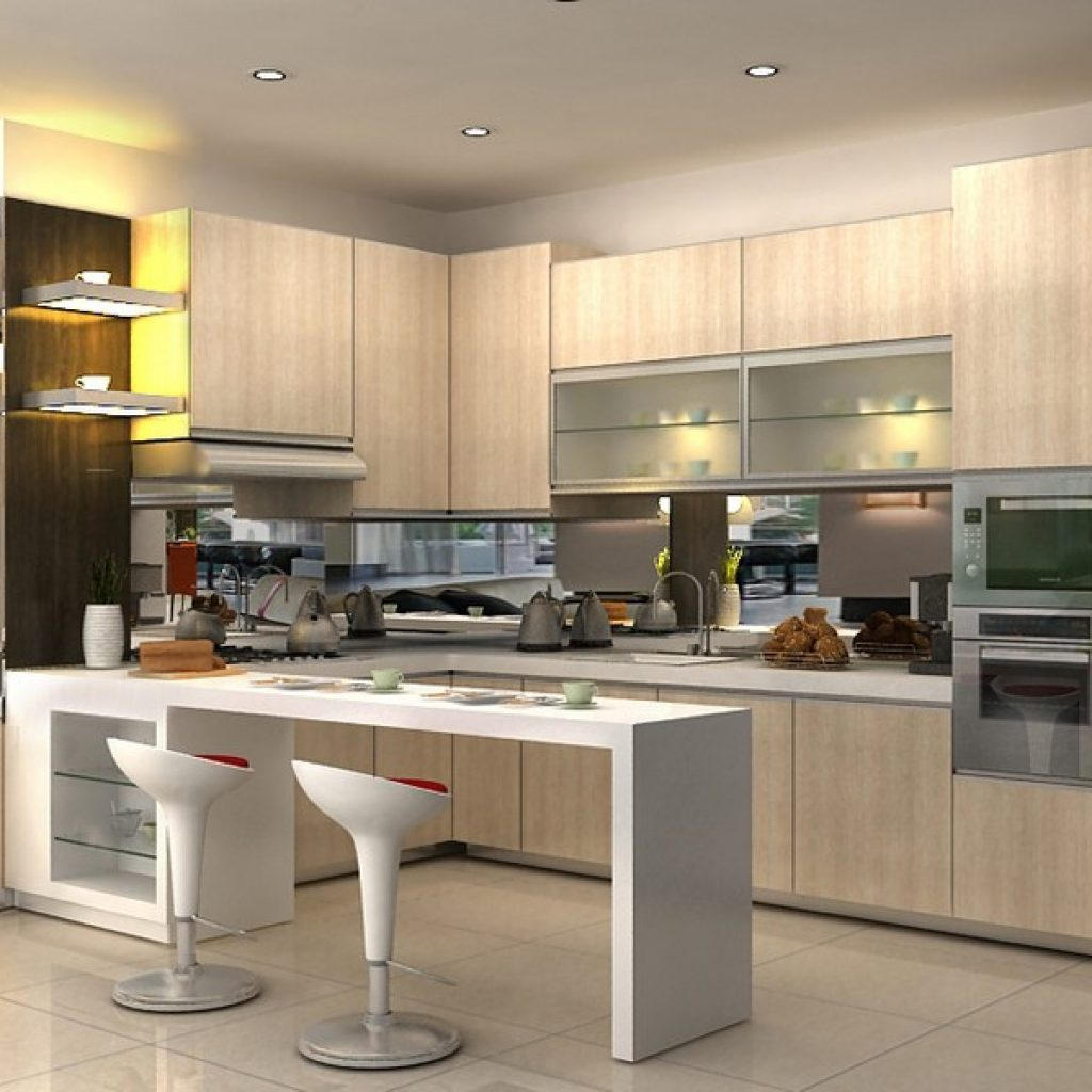 Design kitchen set mewah for Harga kitchen set aluminium minimalis