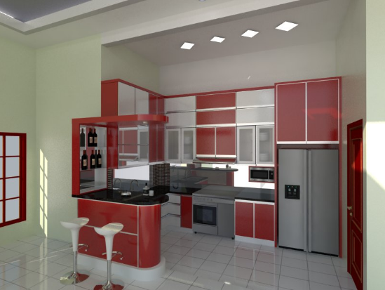 Harga kitchen set aluminium per meter terbaru dan murah for Kitchen set aluminium modern