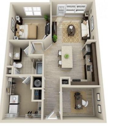 Denah rumah modern minimalis