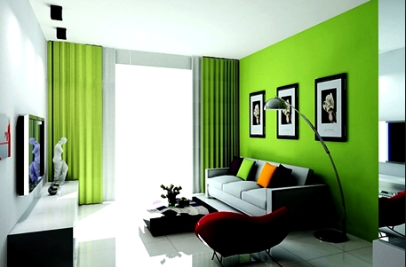 Warna cat ruang tamu agar terlihat luas