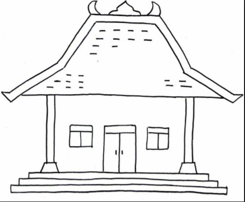 Gambar Rumah Adat Jawa Yang Mudah Digambar Rumah Adat Indonesia