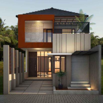 80 Contoh Rumah Minimalis 2 Lantai Modern Sederhana Tampak Depan