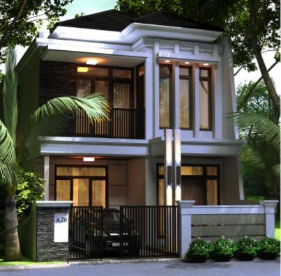 80 Contoh Rumah Minimalis 2 Lantai Modern Sederhana Tampak Depan 2 Desain Rumah Minimalis