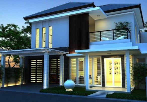 Model Denah Rumah Minimalis 2 Lantai