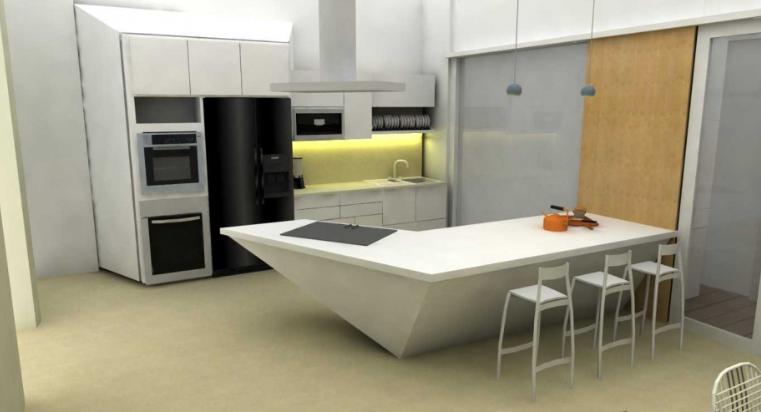 Desain Rumah Minimalis Dapur Di Depan  99 gambar dapur minimalis ukuran 2x3 mungil dan elegan 5