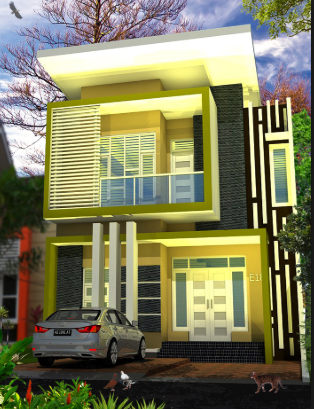 Desain Rumah Minimalis 2 Lantai Type 36/72 Terbaru