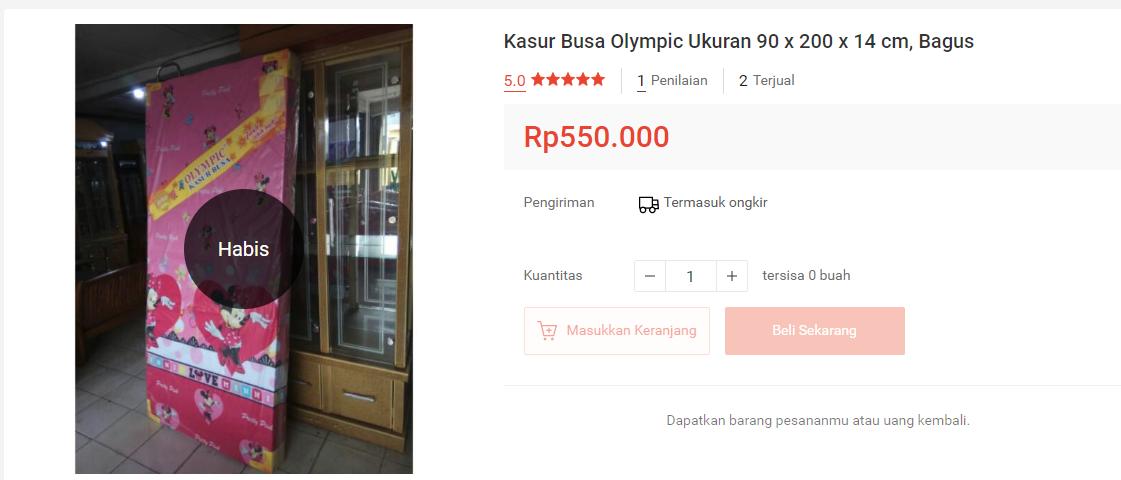 harga kasur busa olympic